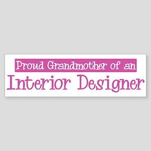 Grandmother of a Interior Des Bumper Sticker