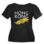 Hong Kong Dark Women's Plus Size Scoop Neck Dark T