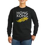 Hong Kong Dark Long Sleeve Dark T-Shirt