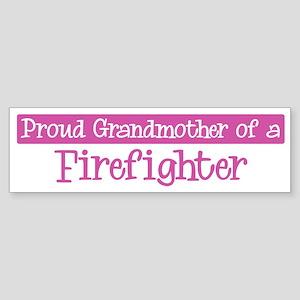 Grandmother of a Firefighter Bumper Sticker