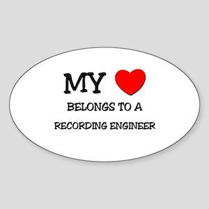 My Heart Belongs To A RECORDING ENGINEER Sticker (