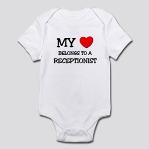 My Heart Belongs To A RECEPTIONIST Infant Bodysuit