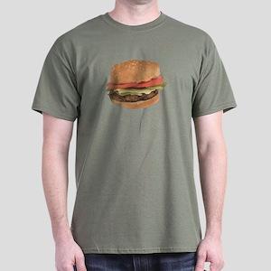 A Hamburger On Your Dark T-Shirt