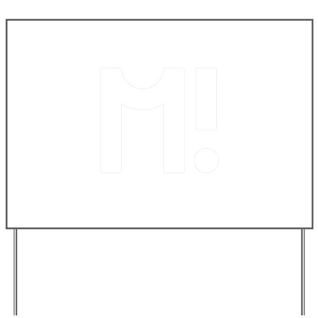 Alphabet Letter M! Yard Sign by ADMIN_CP142296479