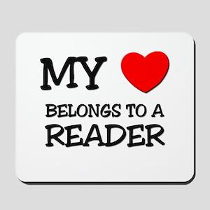 My Heart Belongs To A READER Mousepad