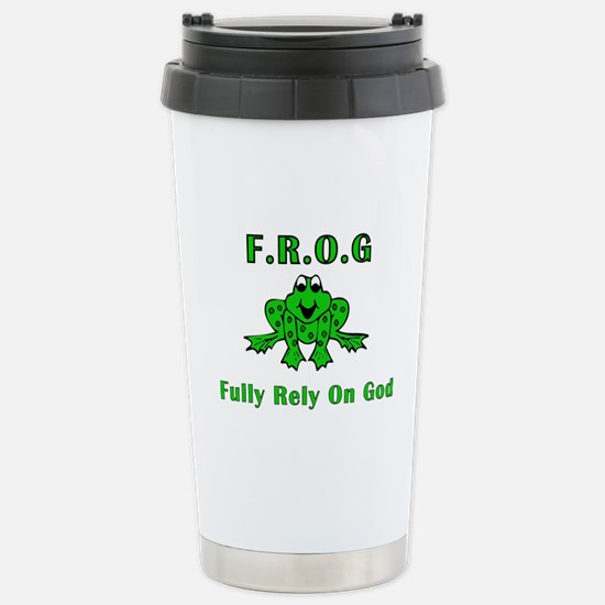 F.R.O.G. - Fully Rely on God Stainless Steel Trave