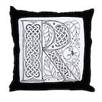 Celtic Letter R Throw Pillow