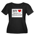 My Heart Belongs To A PYROGRAPHIST Women's Plus Si