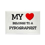 My Heart Belongs To A PYROGRAPHIST Rectangle Magne