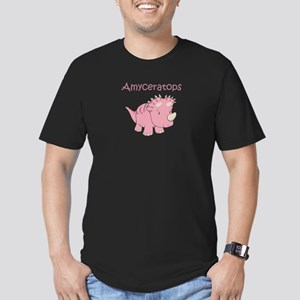 Mom, Dad, & Amyosaurus Men's Fitted T-Shirt (d