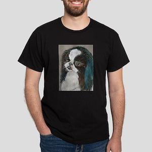 """""""Yagi"""" a Japanese Chin Black T-Shirt"""