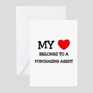 My Heart Belongs To A PURCHASING AGENT Greeting Ca