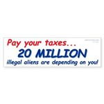 20 Million Aliens (Bumper Sticker 50 pk)