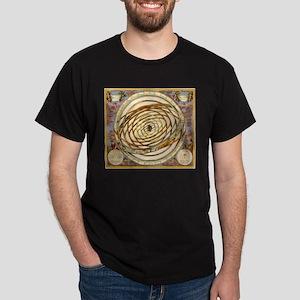 Vintage Celestial, Planetary Orbits Dark T-Shirt