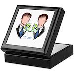 Gay Wedding Grooms Keepsake Box