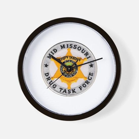 Mid Missouri Drug Task Force Wall Clock