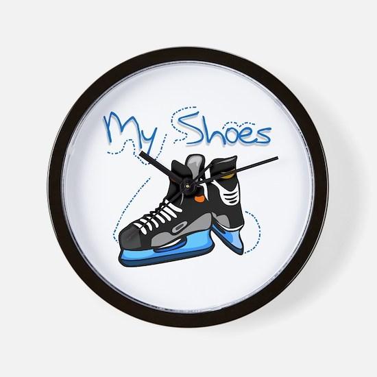 Skates My Shoes Wall Clock
