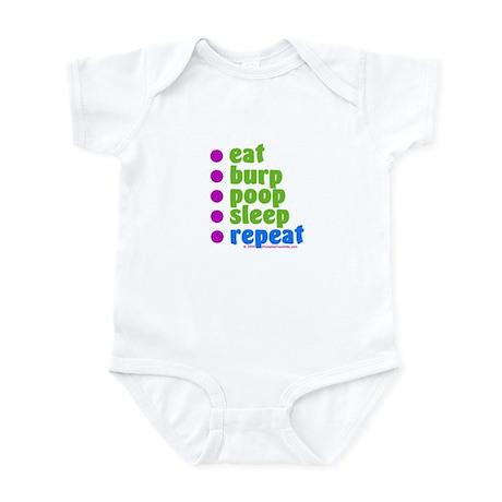 Eat Burp Poop Sleep Repeat Infant Bodysuit