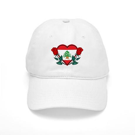 b8a7a5516f5 Heart Lebanon Baseball Cap by oneworldgear