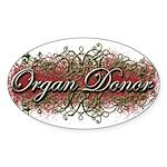 Organ Donor Oval Sticker