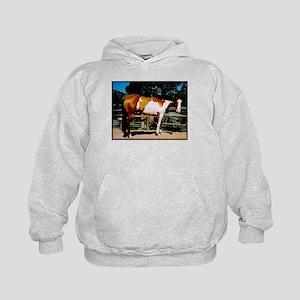 Buckskin Overo Paint Horse Kids Hoodie Sweatshirt
