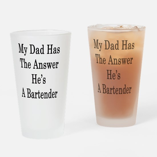 Cool Bartender dad Drinking Glass