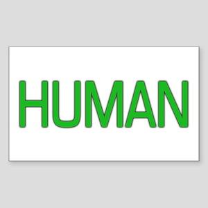 Human Rectangle Sticker