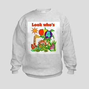 Safari 4th Birthday Kids Sweatshirt