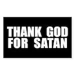 THANK GOD FOR SATAN DECAL