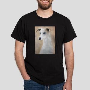 Lilyth a Whippet  Black T-Shirt