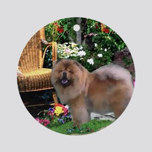Chow Chow Art Ornament (Round)