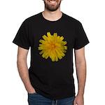 Yellow Flower Black T-Shirt