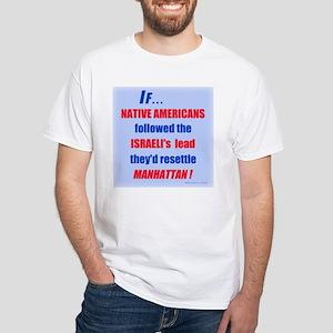 Native Americans resettle Man White T-Shirt