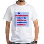 Native Americans resettle Man White T-Shirt