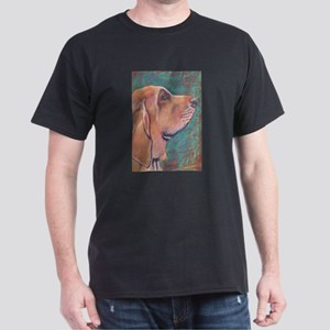 """Hank"" a Bloodhound Black T-Shirt"