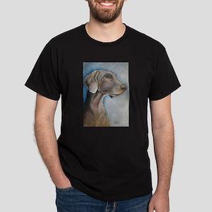 Greta a Weimaraner Black T-Shirt