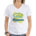 Visit Oklahoma Women's V-Neck T-Shirt