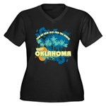Visit Oklahoma Women's Plus Size V-Neck Dark T-Shi