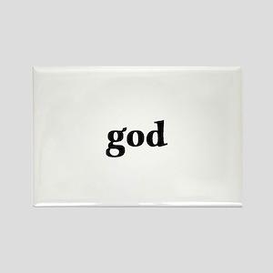god Rectangle Magnet