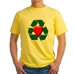 Recycle Heart Yellow T-Shirt