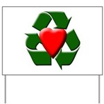 Recycle Heart Yard Sign