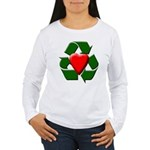 Recycle Heart Women's Long Sleeve T-Shirt