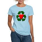 Recycle Heart Women's Light T-Shirt