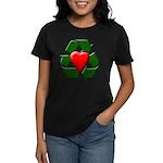 Recycle Heart Women's Dark T-Shirt