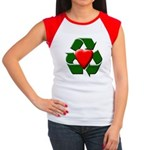 Recycle Heart Women's Cap Sleeve T-Shirt