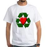 Recycle Heart White T-Shirt