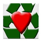 Recycle Heart Tile Coaster