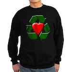Recycle Heart Sweatshirt (dark)