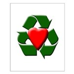 Recycle Heart Small Poster