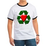 Recycle Heart Ringer T